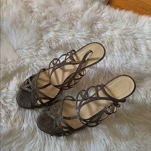 Kate Spade Metallic Strappy Heels
